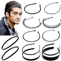 12 Unids Multi-Style Metal Hair Hoop Diadema de plástico Peine flexible Banda para el cabello Antideslizante Elástico…