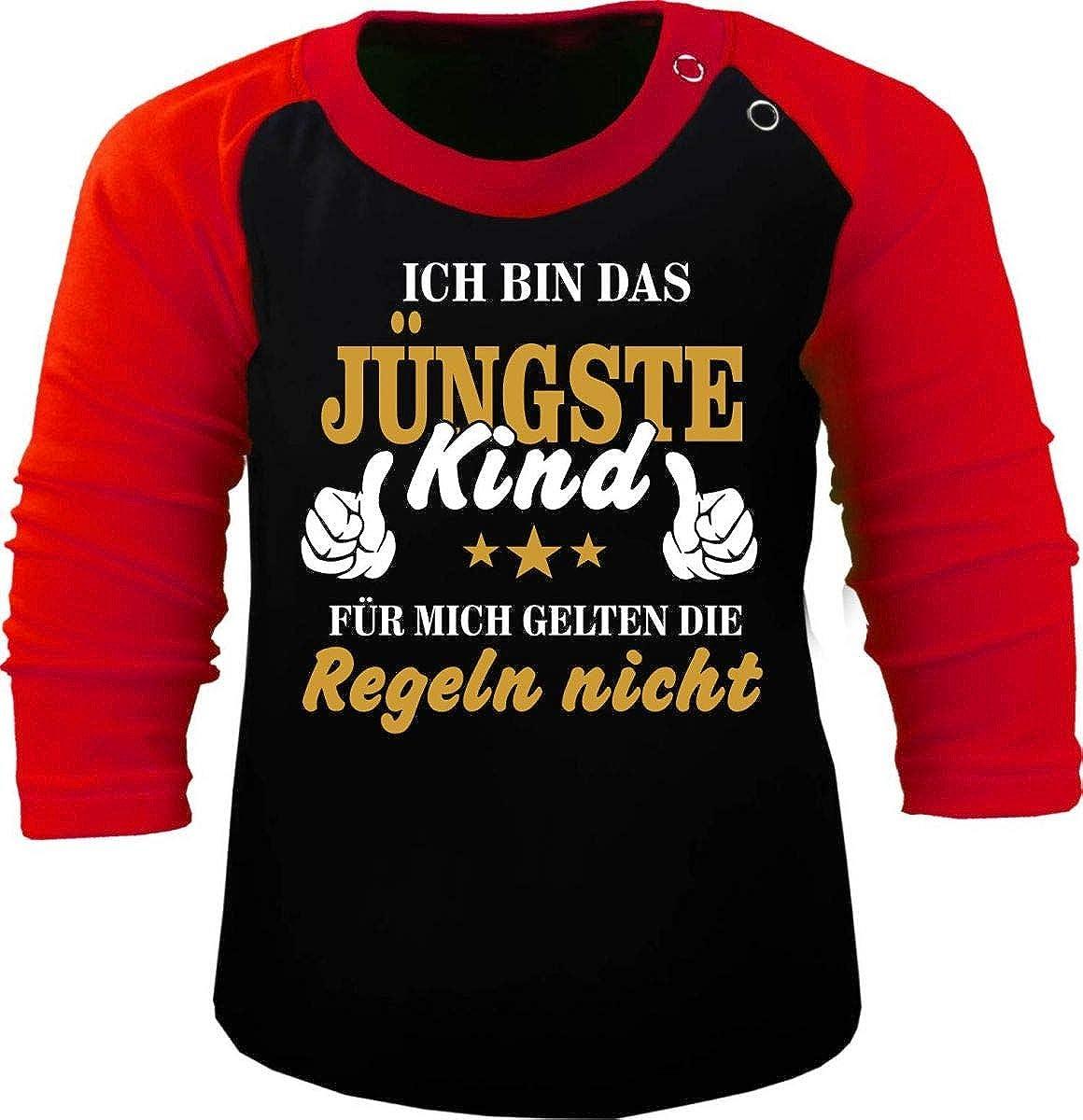 Ich Bin Das j/üngste Kind KLEINER FRATZ Baby//Kinder Baseball Langarm T-Shirt