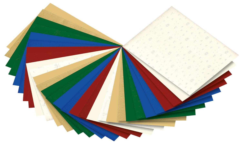 Assorties 24/x 34/cm 30/Feuilles /pr/äge karto Bloc No/ël Multicolore Folia 64649/