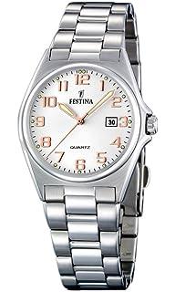 Festina F16375 7 - Reloj analógico de cuarzo para mujer con correa de acero  inoxidable 77907e3986b