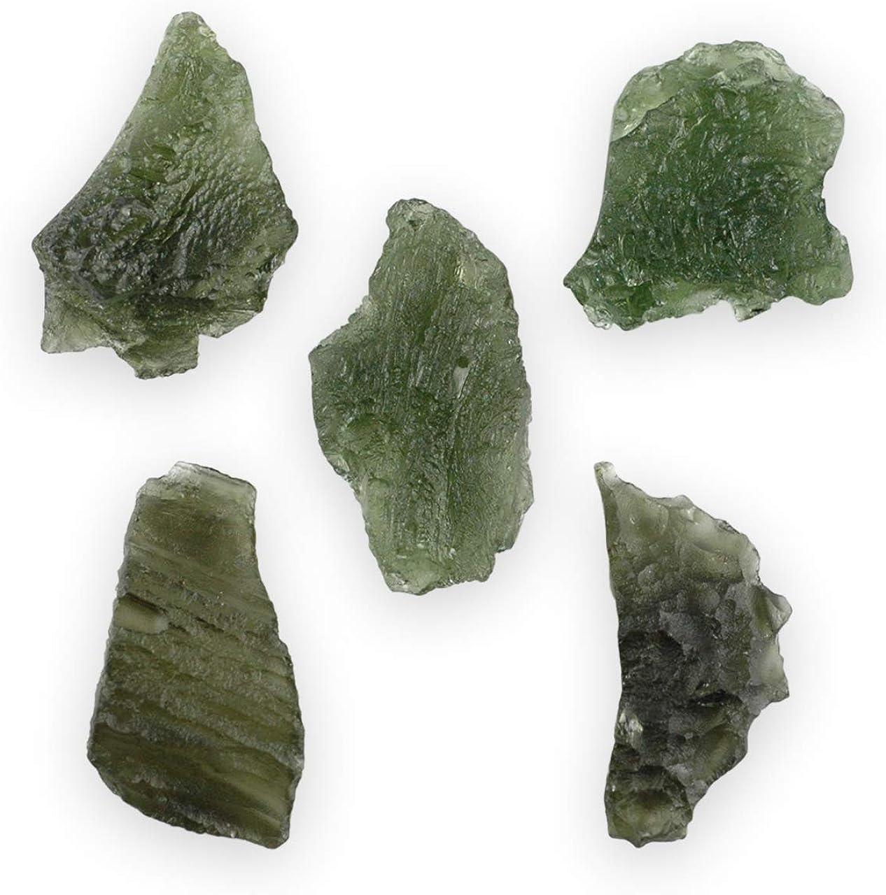 Starborn Auténtica piedra Moldavita bruta entre 15–20quilates