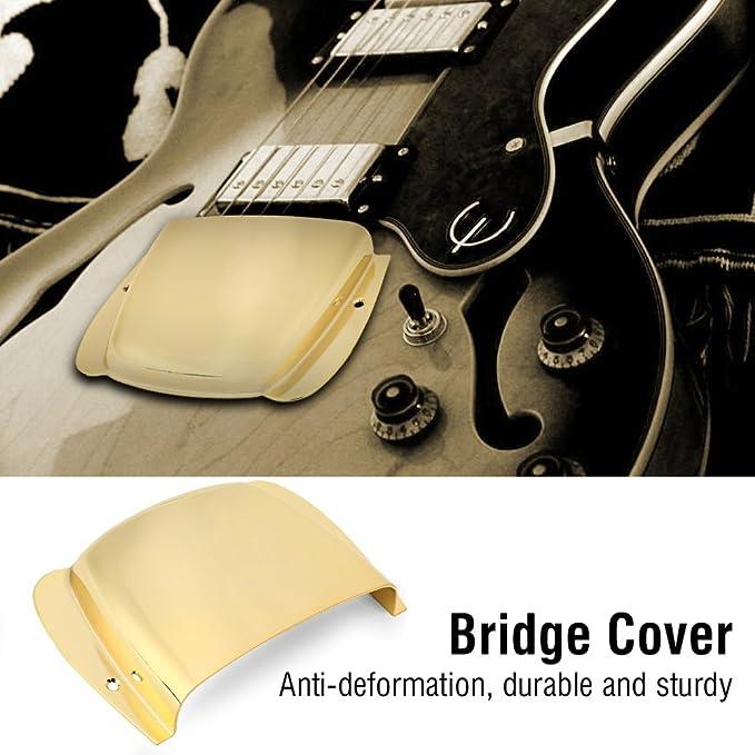 E-Gitarre Brücke Silber mit Cover Protector Schrauben für Ersatzteil
