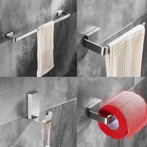 Bigbig Home Bath Hardware Sets 4pcs Brushed Nickel Finished Square