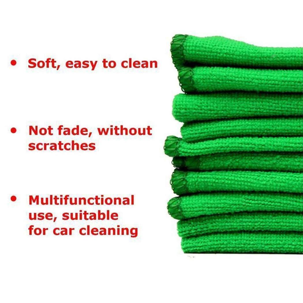 Eroihe Paño de Limpieza de Coches Absorción de Agua Cuadrada Paño de Limpieza de Microfibra (10 unids)