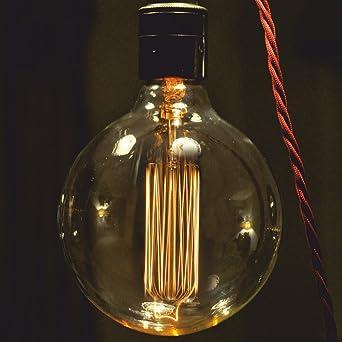 Large Filament Light Bulb: Vintage light Bulb. Squirrel Cage filament. Globe Large B22 Bayonet,Lighting
