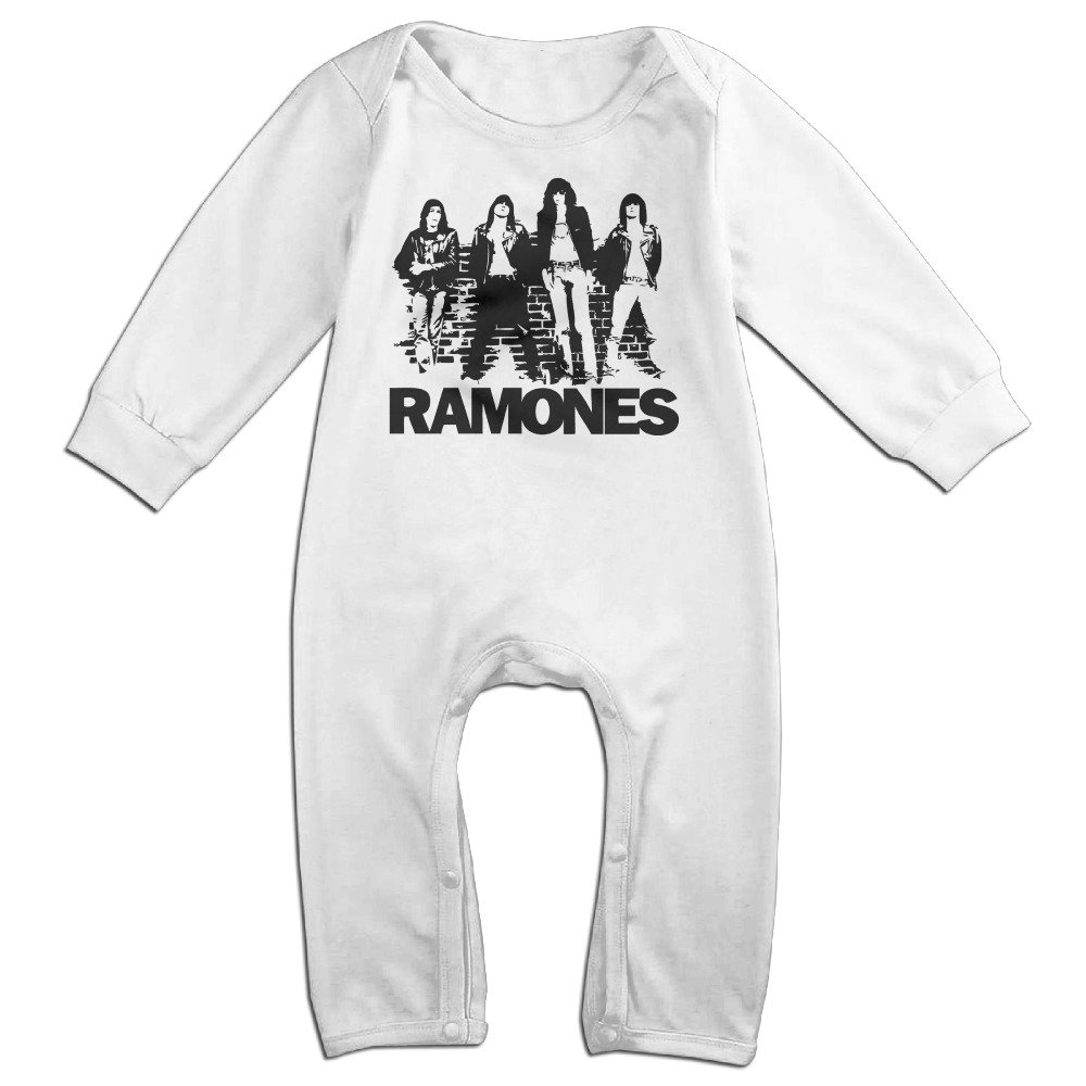 MJML5 Toddler//Infant Ramones Punk Rock Band Romper Bodysuit Outfits White
