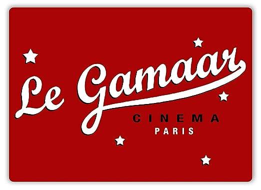 Shunry Le Gamaar Cinema Paris Placa Cartel Vintage Estaño ...