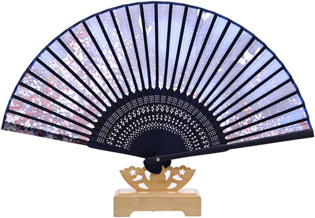 Accesorios decorativos Abanico de mano abatible Ventilador de bambú impreso retro con regalos creativos Regalos para parientes y amigos y bailarines Fans especiales Decoración del hogar (Color : D) : Amazon.es: Hogar