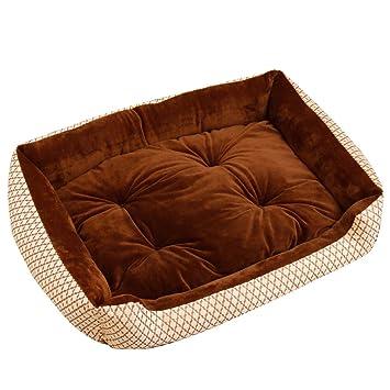 Cómodo Casa para Mascotas Cama Extra Grande para Perros Perrera Café 4: Amazon.es: Productos para mascotas