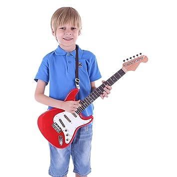 Gettesy 67cm 6 Cuerdas Guitarra para Niños Guitarra Eléctrica ...