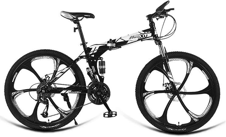 Elípticas=Bicicleta de montaña Plegable Automóvil Deportivo de 24 Pulgadas de Velocidad Vehículo Todoterreno para Adultos Carreras en Ruta Estudiantes Masculinos (Color : Red-C, Size : 24in): Amazon.es: Hogar