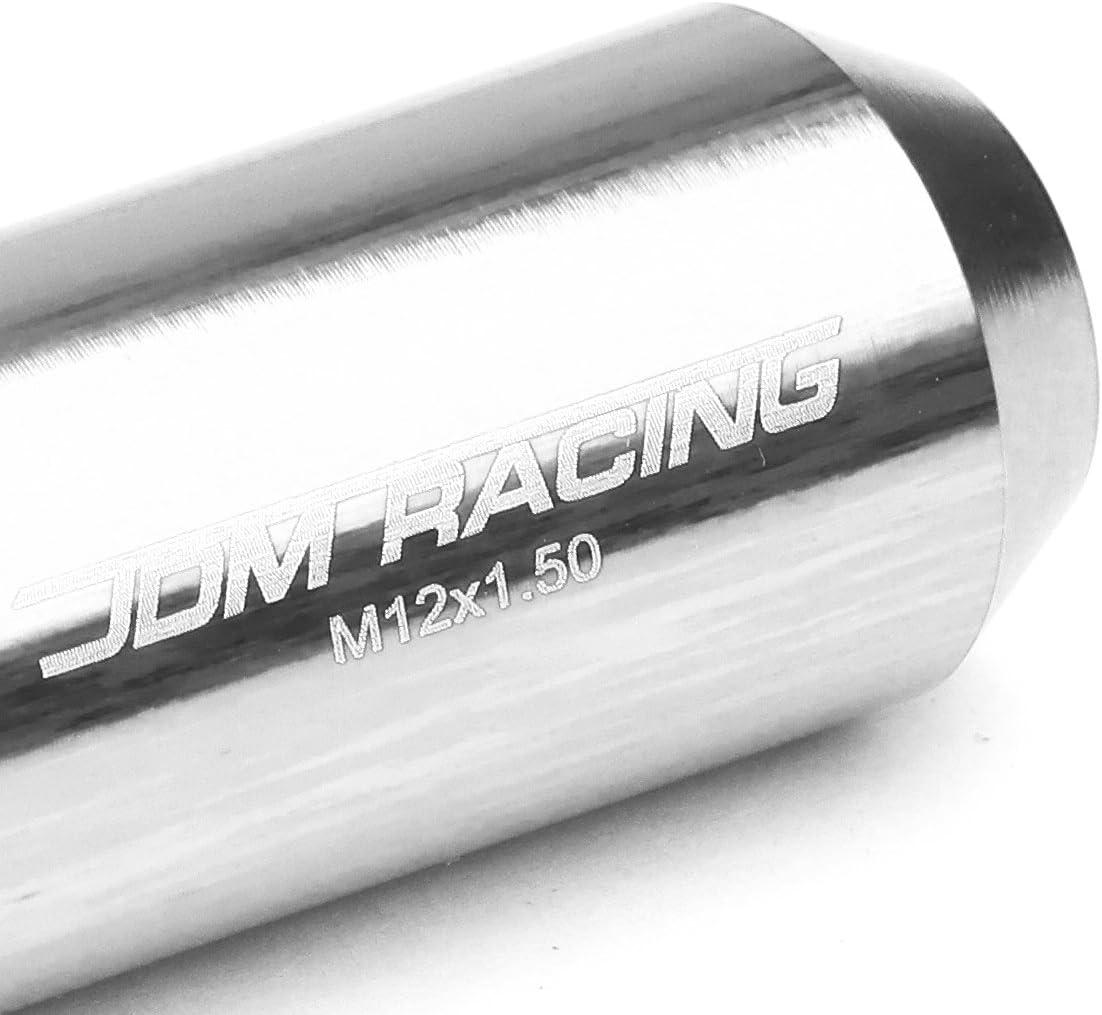 4 x Lock Nut Red 1 x Lock Nut Key M12 x 1.5 Open End Design 16-Piece Anodized Aluminum Alloy Wheel Lug Nuts
