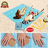 Abeter Sand Free Beach Mat Blanket Sand Proof Magic Sandless Sand Dirt