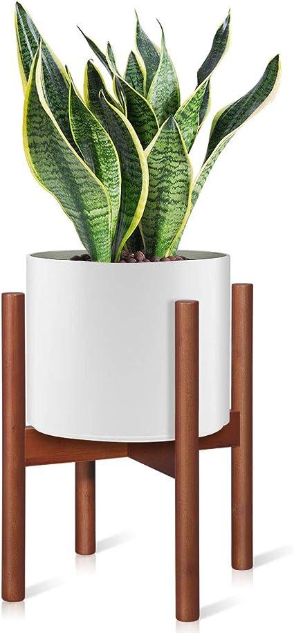 Mid Century Corner Plant Holder Adjustable Indoor Plant Stand Plant Stand