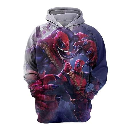 e5dfc08c Fernando Guapo 1 Pcs 3D Printing Venom Deadpool Hooded Sweatshirt  Pullover,Spiderman Cosplay Costume Sweater
