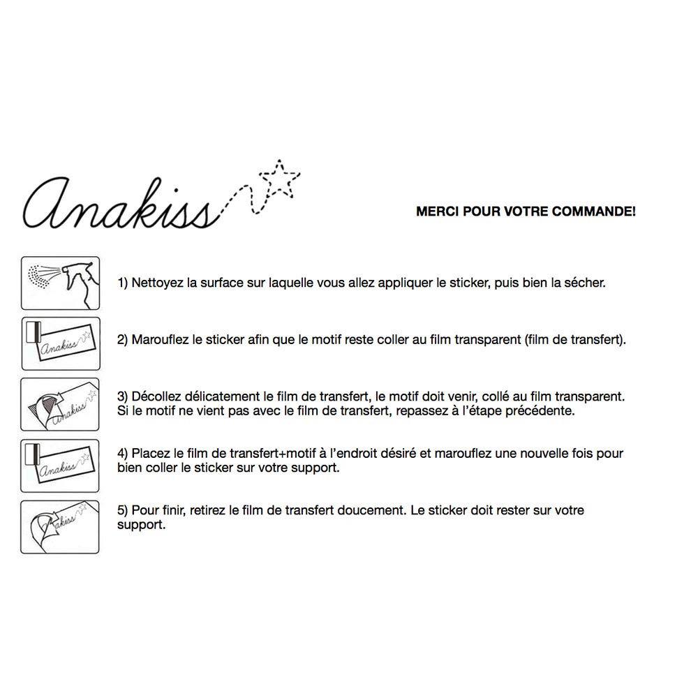 Anakiss Sticker b/éb/é /à bord pour voiture Petit Dragon /à bord 20 cm Noir
