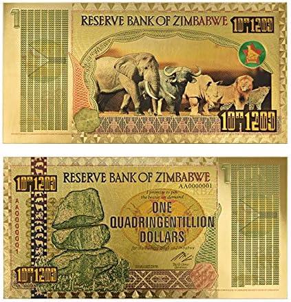 ZYZRYP ジンバブエ$ Z100兆/ 100 Quintrillion / 5 Octillion / 100 Decill