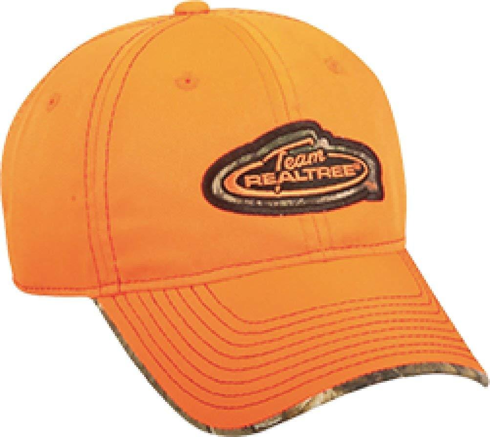 Outdoor Cap Team Logo Cap with Camo Trim, One Size, Realtree Blaze/APX