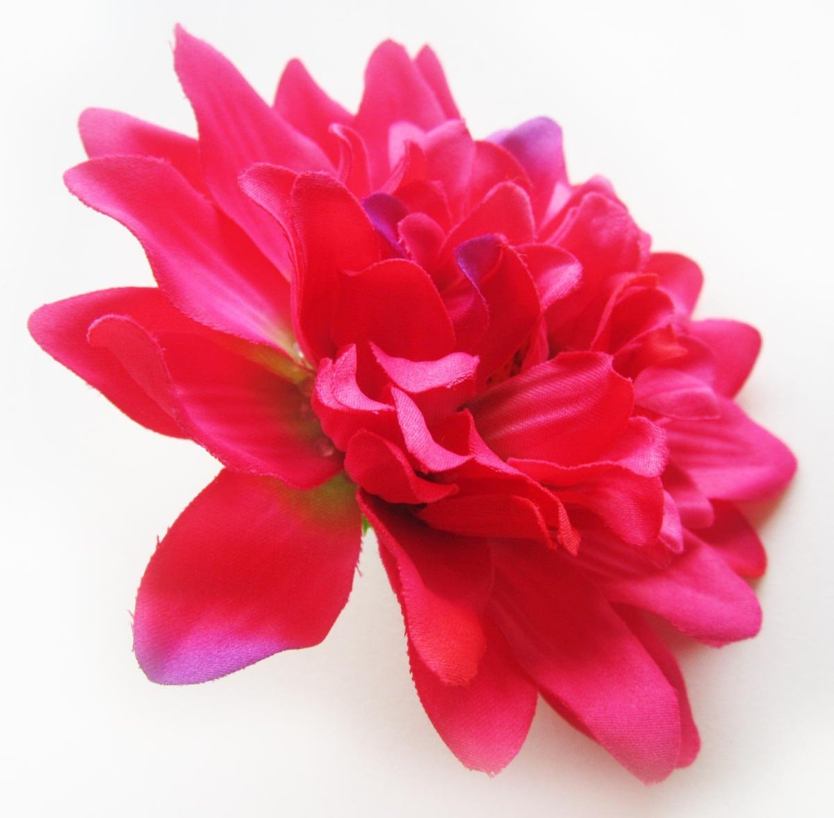 Amazon 4 Hot Pink Silk Dahlia Flower Heads 4 Artificial