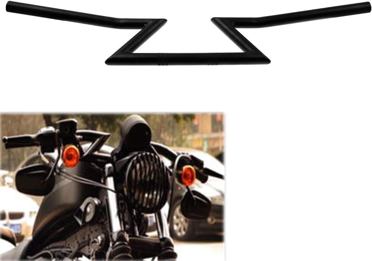 Hdbubalus Motorrad Lenker 22 Mm Drag Z Bar Für Harley Honda Yamaha Suzuki Kawasaki Chopper Bobber Touring Custom Schwarz Auto