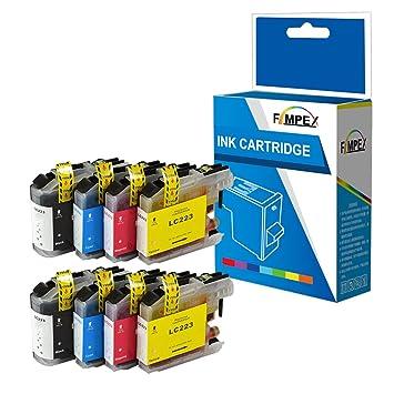 Fimpex Compatible Tinta Cartucho Reemplazo para Brother DCP-J562DW MFC-J4420DW MFC-J4620DW MFC-J4625DW MFC-J480DW MFC-J5320DW MFC-J5620DW MFC-J5625DW ...