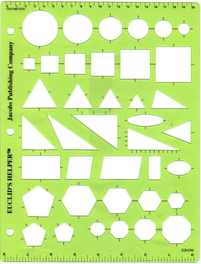 Euclid's Helper Geometric Drawing Template Class (30) Pack by Jacobs Publishing Company (Image #1)