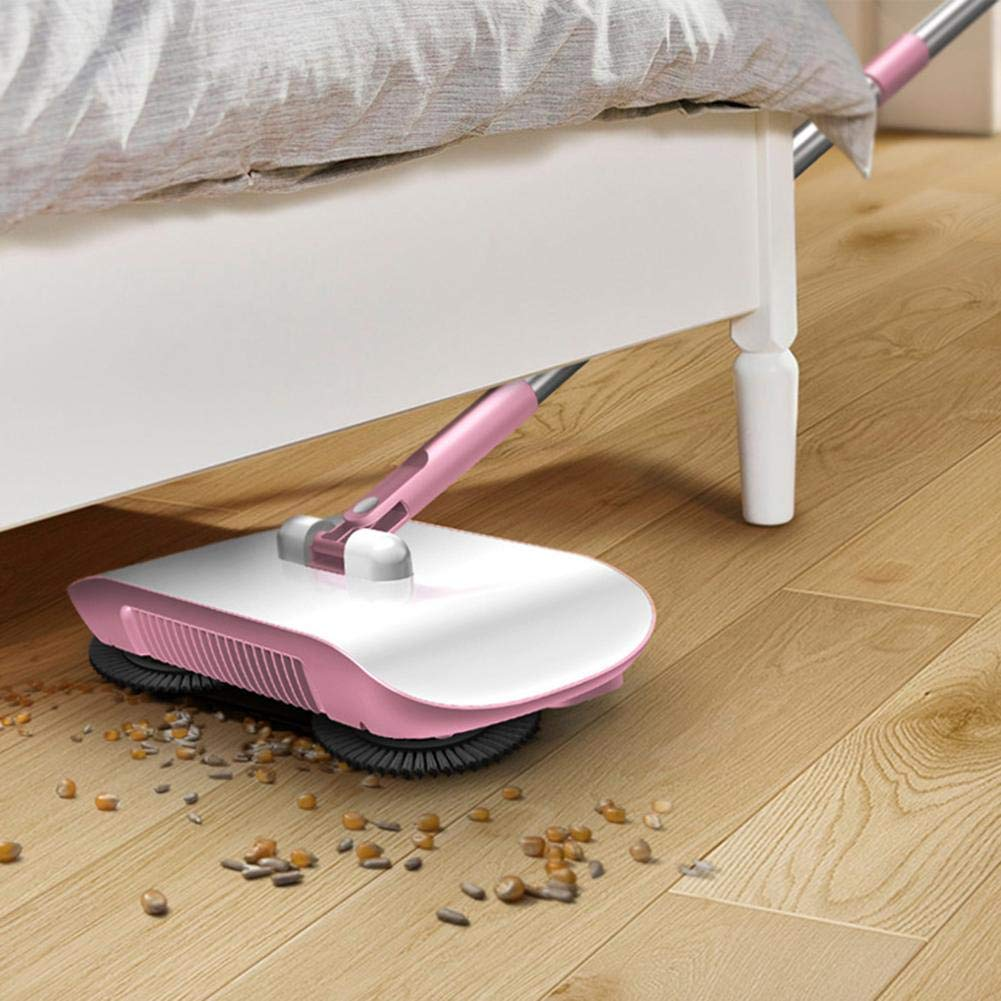 Floor Sweeper With Dual Brush Rotating System And 4 Corner Edge Brushes,Easy-Use Compact Cleaning System Ideal On Carpets /& Hard Floor Surfaces Supererm Natural Sweep Carpet