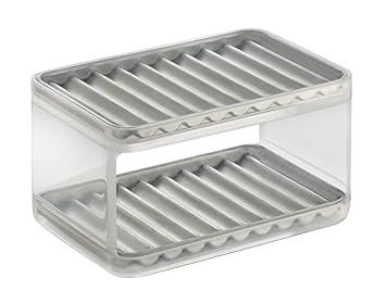 InterDesign Forma Kitchen Sink Sponge And Scrubber Holder U2013 2 Tier  Organizer, Clear/