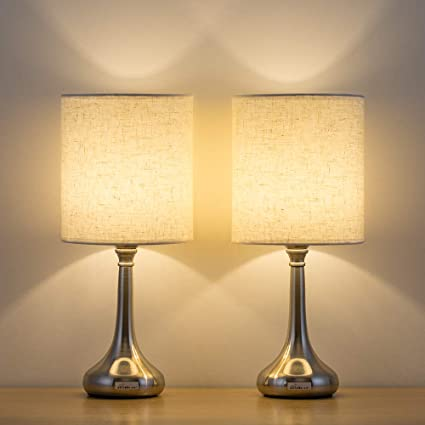 Haitral Bedside Table Lamps Set Of 2 Unique Modern Nightstand