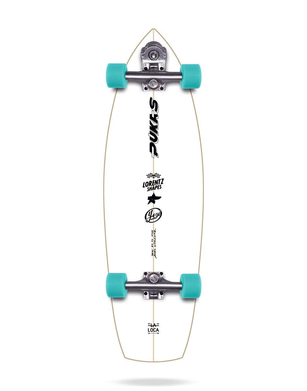 YOW Pukas La Loca Surfskate Completos, Unisex Adulto, Blanco, 33.5: Amazon.es: Deportes y aire libre