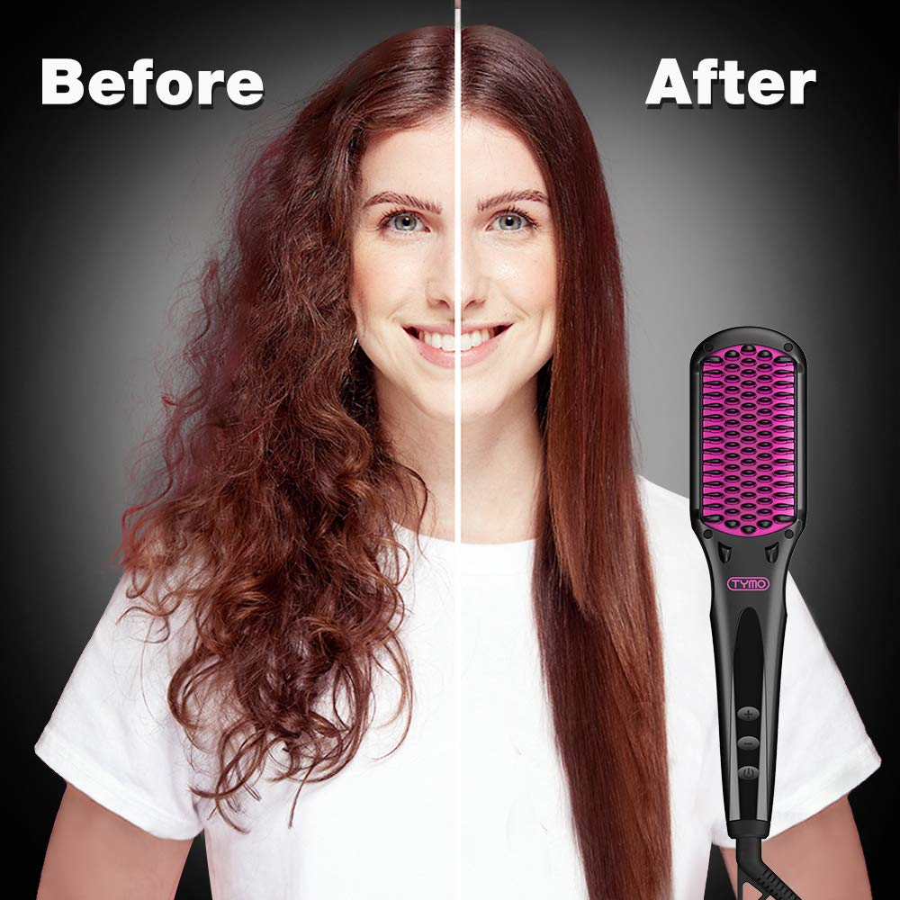 TYMO iONIC Hair Straightener Brush Enhanced Ionic