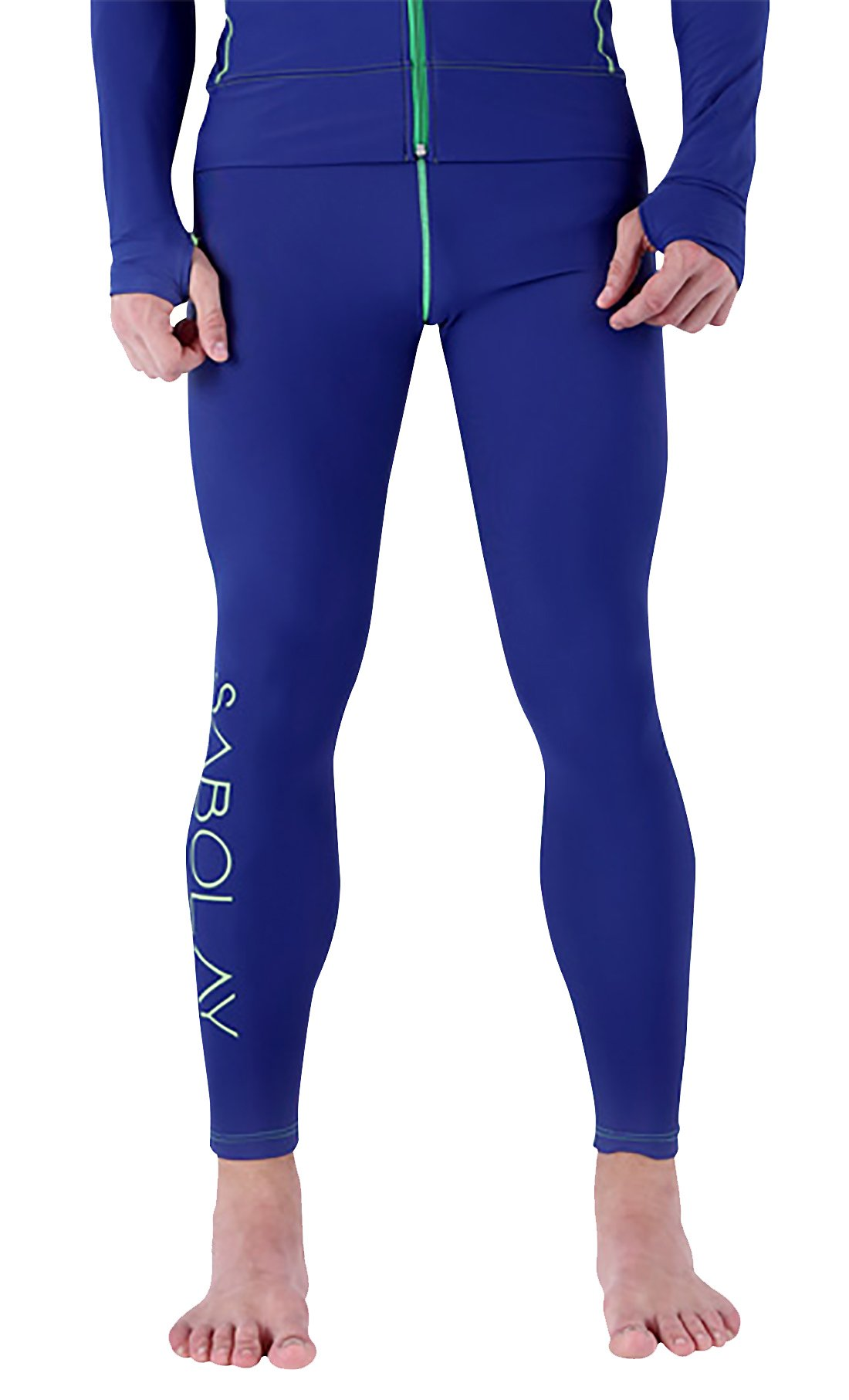 SABOLAY Men Wetsuit Pants Athletic Base Layer Tights for Water Sport Snorkeling Fish Diving Surfing Canoeing L by SABOLAY