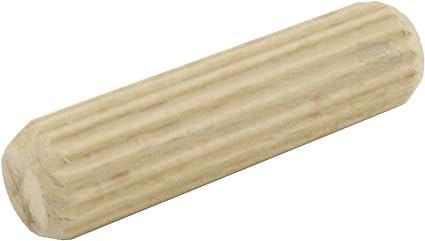 100 Spine in legno Rigatura Dritta Altezza 60 mm Diametro 12 mm Spina per Mobili