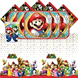 Super Mario Bros Nintendo Childrens Birthday Complete Party Tableware Pack for 16