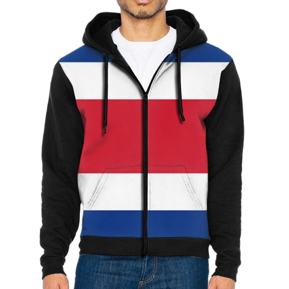 Costa Rica Flag MenHit Color Jacket Tops Men