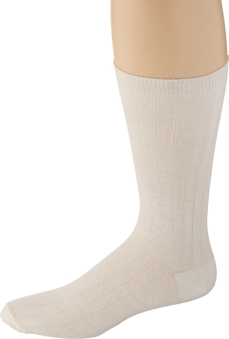 Sammons Preston 100% Cotton Oversized Socks, Men's Medium/Large for Shoe Sizes 8-10, Extra Wide & Deep for Swollen Feet & Foot Casts, 6 Pairs, Dressing Aid for Those with Diabetes & Foot Injuries