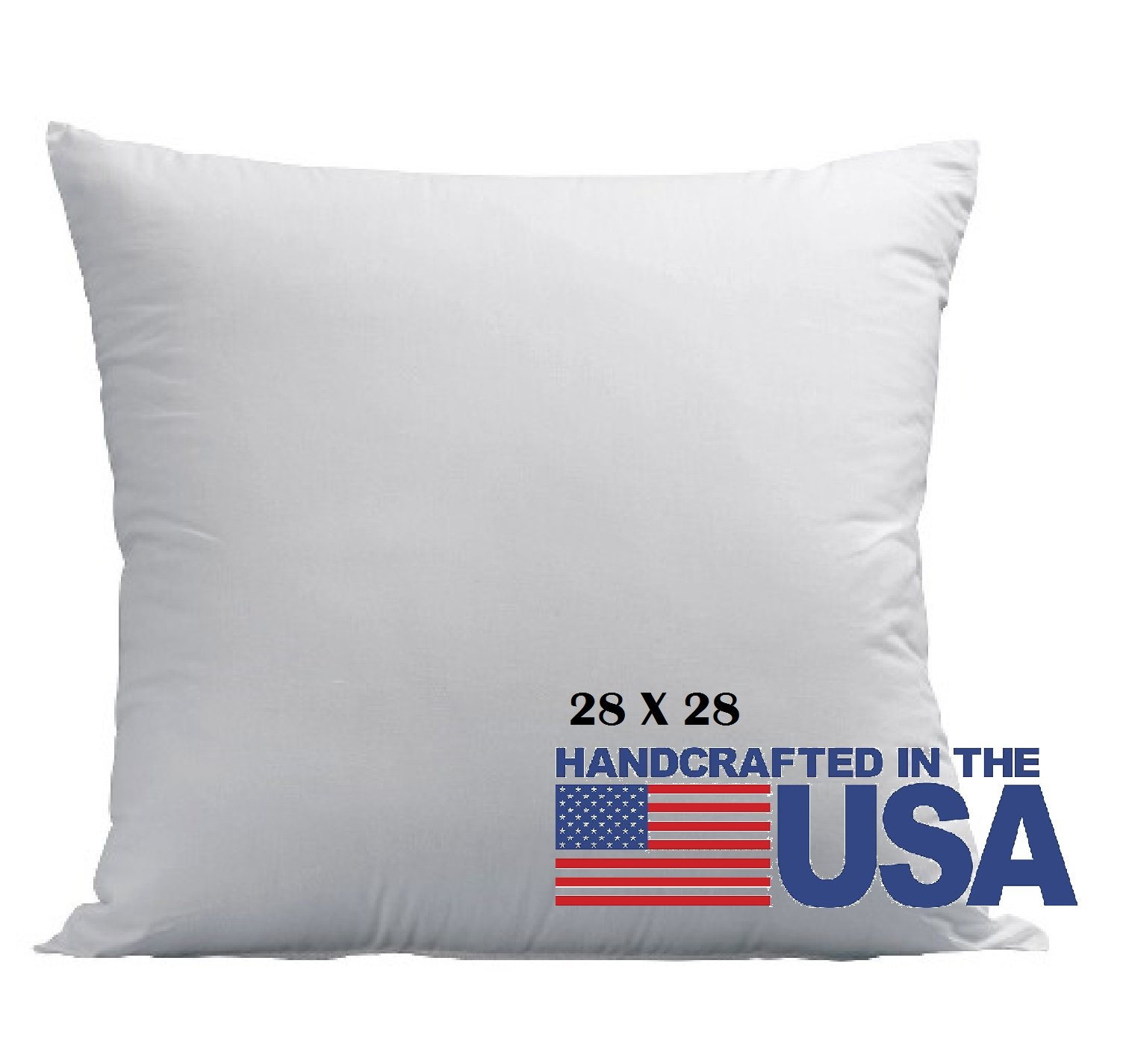 Deluxe Home Euro Pillows 28x28 Square Pillow Insert for Decorative Bed Pillow Sham - Hypoallergenic, Down Alternative Fill - Crafted in the USA by Basics (1 Pack)