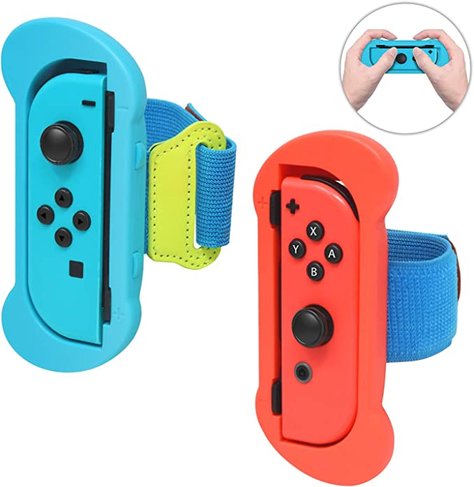 Muñequeras para juegos de Nintendo Switch de Joy Cons Just Dance 2020 2019, correa elástica ajustable para el mando Joy-Cons: Amazon.es: Electrónica