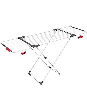 Vileda Surprise Tendedero Extensible de acero y aluminio, espacio de tendido de 11 hasta 20