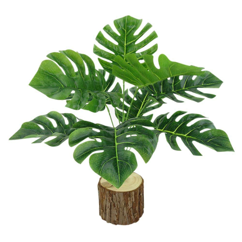 Amazon Com Handly Artificial Plants Turtle Leaves Octagonal