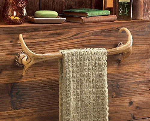 (For The Bath Bathroom Decor Antler Towel Rack)