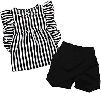 Stripes Shorts Sets for Infant Baby Toddler Boy Girl Kehen 2pcs Summer Outfits Sleeveless Vest T-Shirt Tops