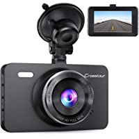 "$37 Get Dash Cam, Crosstour 1080P Car DVR Dashboard Camera Full HD with 3"" LCD Screen 170°Wide…"