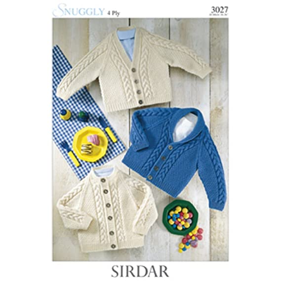 71078318e Sirdar Snuggly 4 Ply - Babies Cardigans   Jackets Pattern -3027 0 to ...
