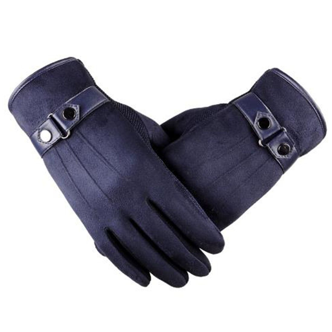 Little Chair Mens Touch Screen Winter Warm Gloves Cycling Windproof Mitten Gift (Blue)