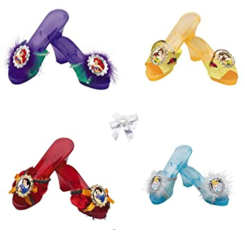 5 Item Bundle: 4 Girls Disney Princess Dress Up Shoes Set with ...