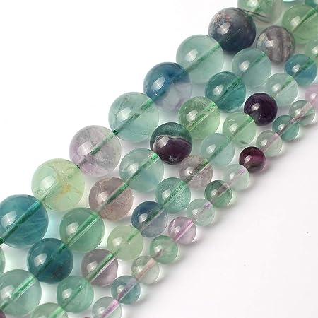 Natural Flourite Beads AA Grade Round Smooth Loose Gemstone DIY Jewelry Supply
