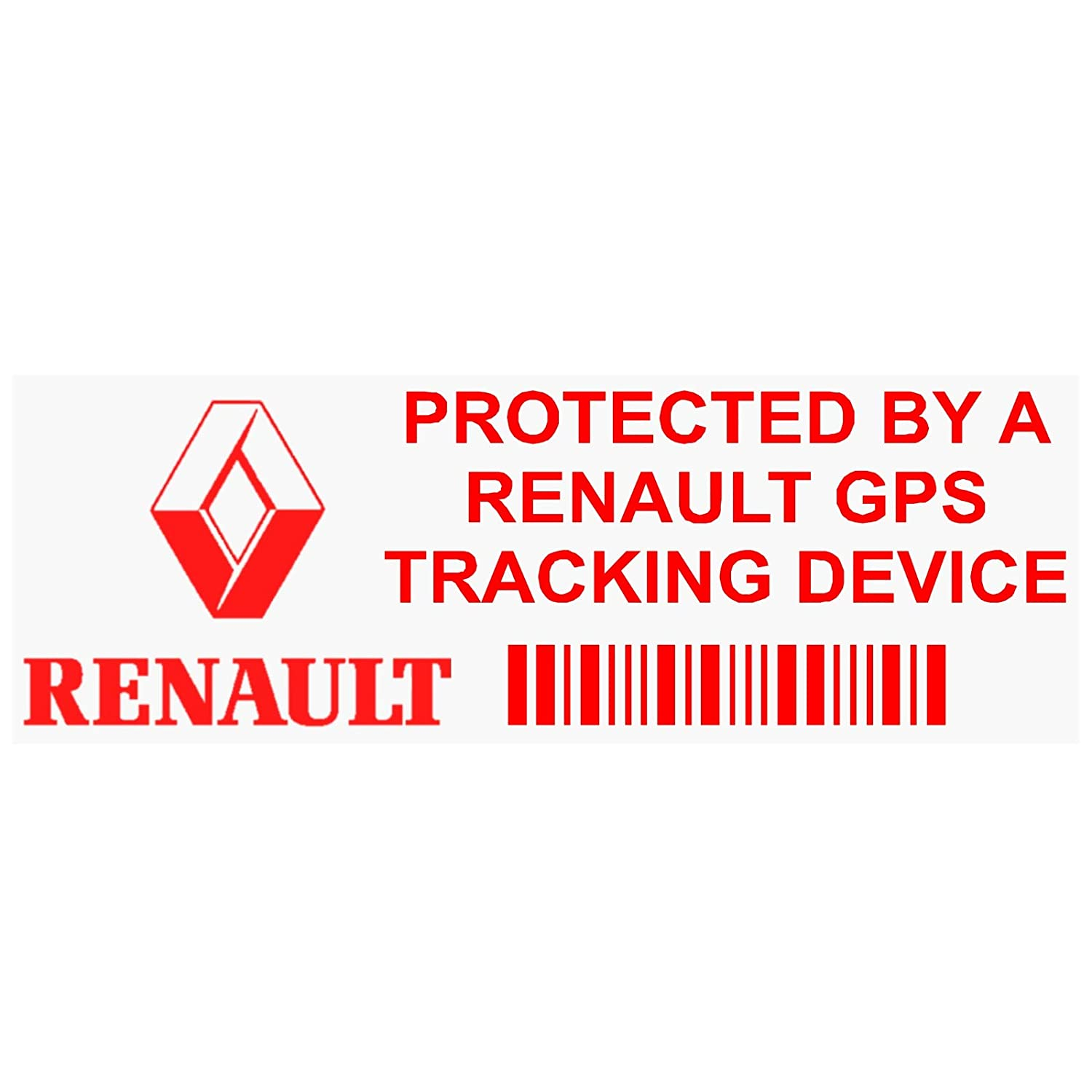 5  x pprenaultgpsred GPS rot Tracking Gerä t Sicherheit Fenster Aufkleber 87  x 30  mm-car, Van Alarm Tracker Platinum Place