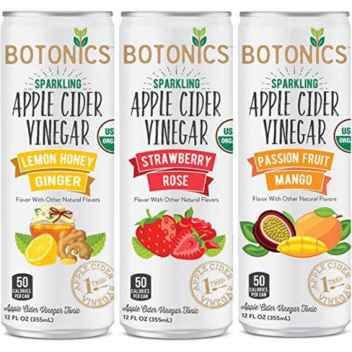 Apple cider vinegar drink amazon botonics sparkling organic apple cider vinegar tonic variety pack 12 ounce pack of 12 malvernweather Image collections