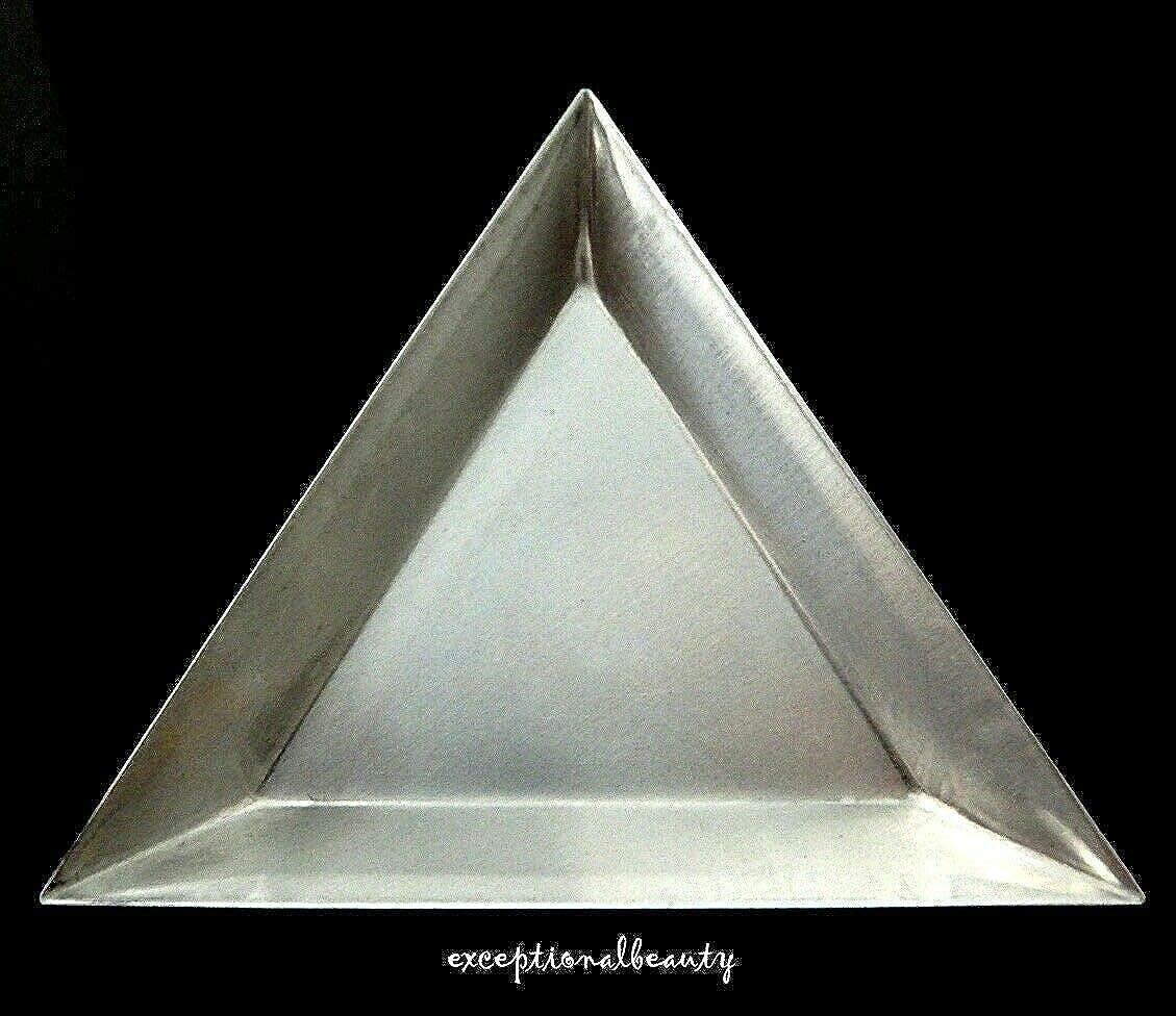 Set of 12 Beading Triangles Bead Tray Aluminum Metal Sorting Trays Scoop Nesting